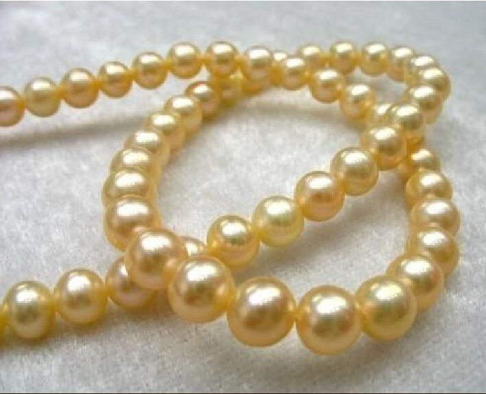 """NATURAL 8-9MM ROUND SOUTH SEA GENUINE WHITE PEARL BRACELET 7.5/""""AAA+"""
