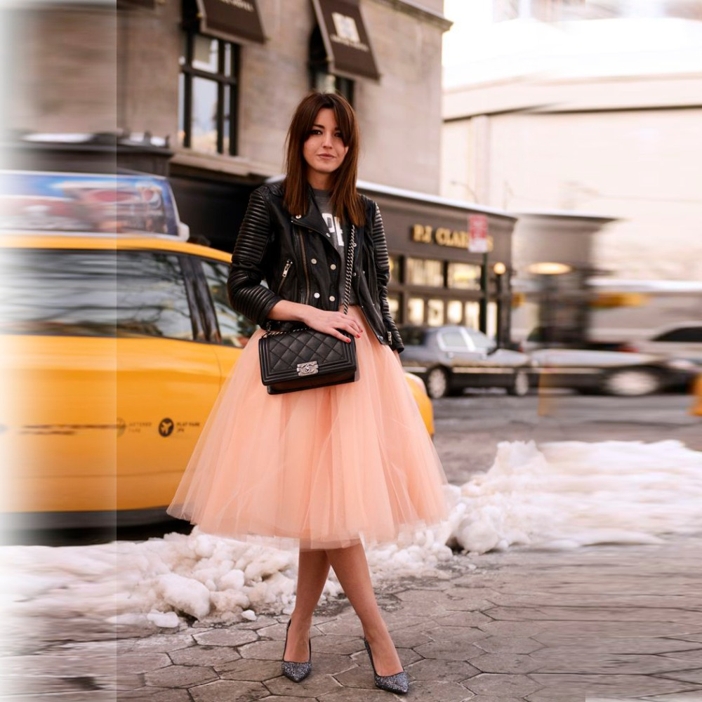 Aliexpress.com : Buy Puffy Layered Tulle Skirt A Line Knee Length ...