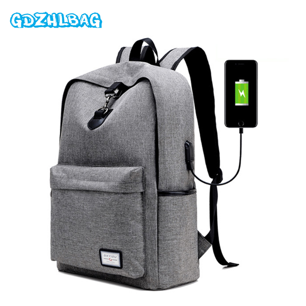 Anti theft Backpack Book Bag for School Backpack Casual Rucksack Daypack Oxford Canvas Laptop Fashion Man USB Backpacks b164