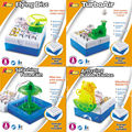 DIY educational science kits Flying Disc,Splashing Fountain,TurboAir,Amazing Bubble popular science technology model 4 styles