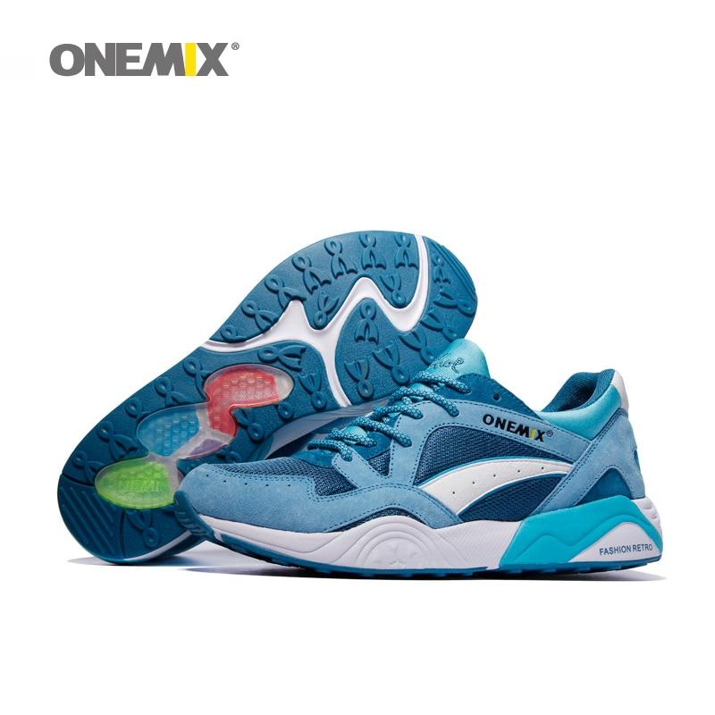 Onemix 2017 hombres retro zapatos para correr transpirable zapatillas de deporte
