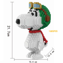 Classic cartoon figures micro diamond building block lovely puppy nanoblock diy dog bricks assemable model toys for kids gifts(China)