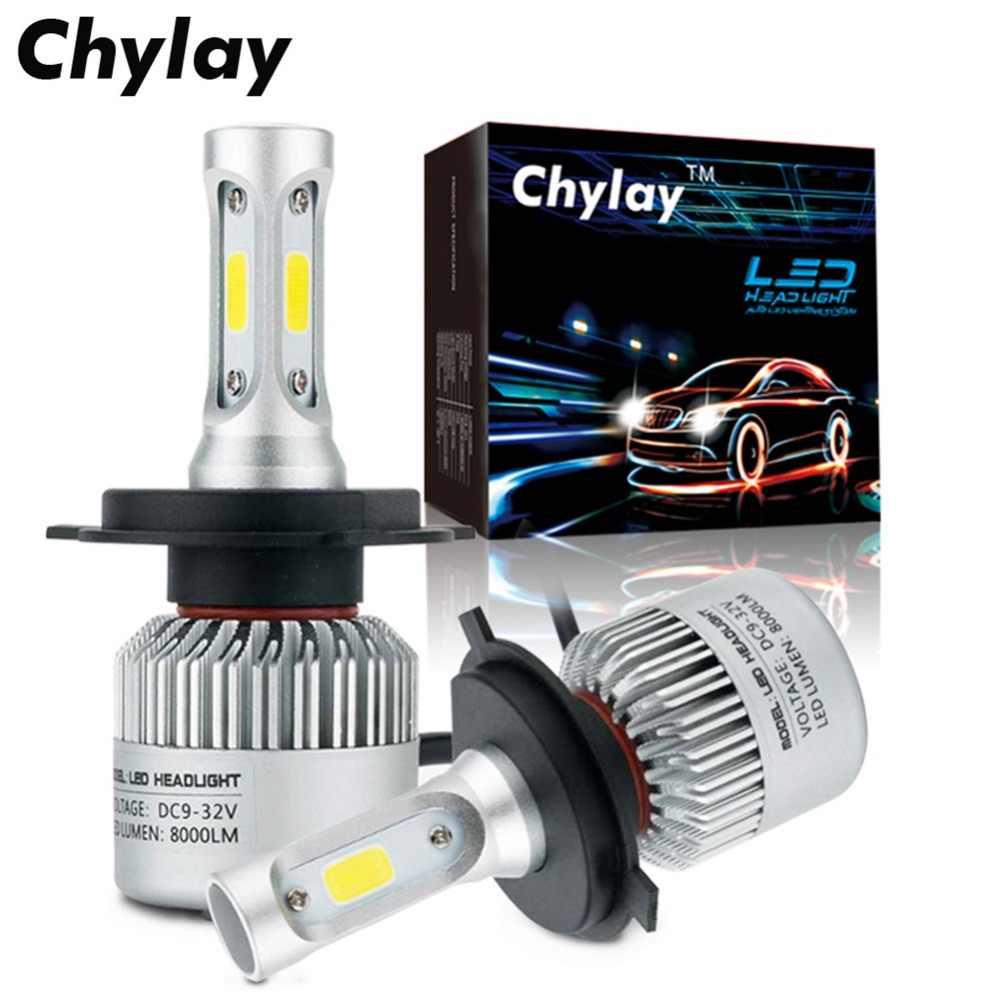 2X H11 LED H4 H7 H1 H3 HB4 H8 HB3 H27 9005 9006 Auto Car Headlight Bulb 72W 8000LM car accessories 6000k Led Automotivo Lamp 12V