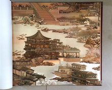 beibehang Classic fashion porch landscape painting gold foil hotel classical Chinese decoration papel de parede wallpaper