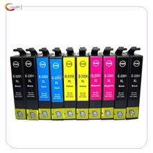 Cartucho de tinta compatível para epson 220xl 220 (10 pacote) compatível com XP-320 XP-420 XP-424 WF-2630 WF-2650 WF-2660