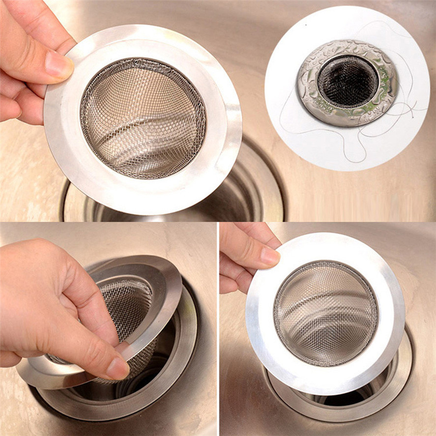 US $1.35 36% OFF|New Hair Stopper Shower 1PC Home Kitchen Sink Drain  Strainer Stainless Steel Mesh Basket Strainer Filter 0116#30-in Hair  Stoppers & ...
