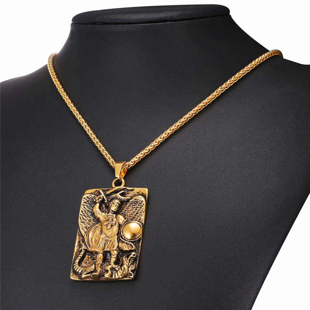 russian made gold plated   Pendant Archangel #5