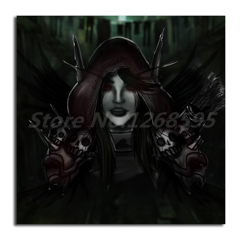 Us 57 5 Offworld Of Warcrafts Gothic Skulls Death Fantasy Animals Wallpapers Art Canvas Poster Painting Wall Picture Print Home Decoration In