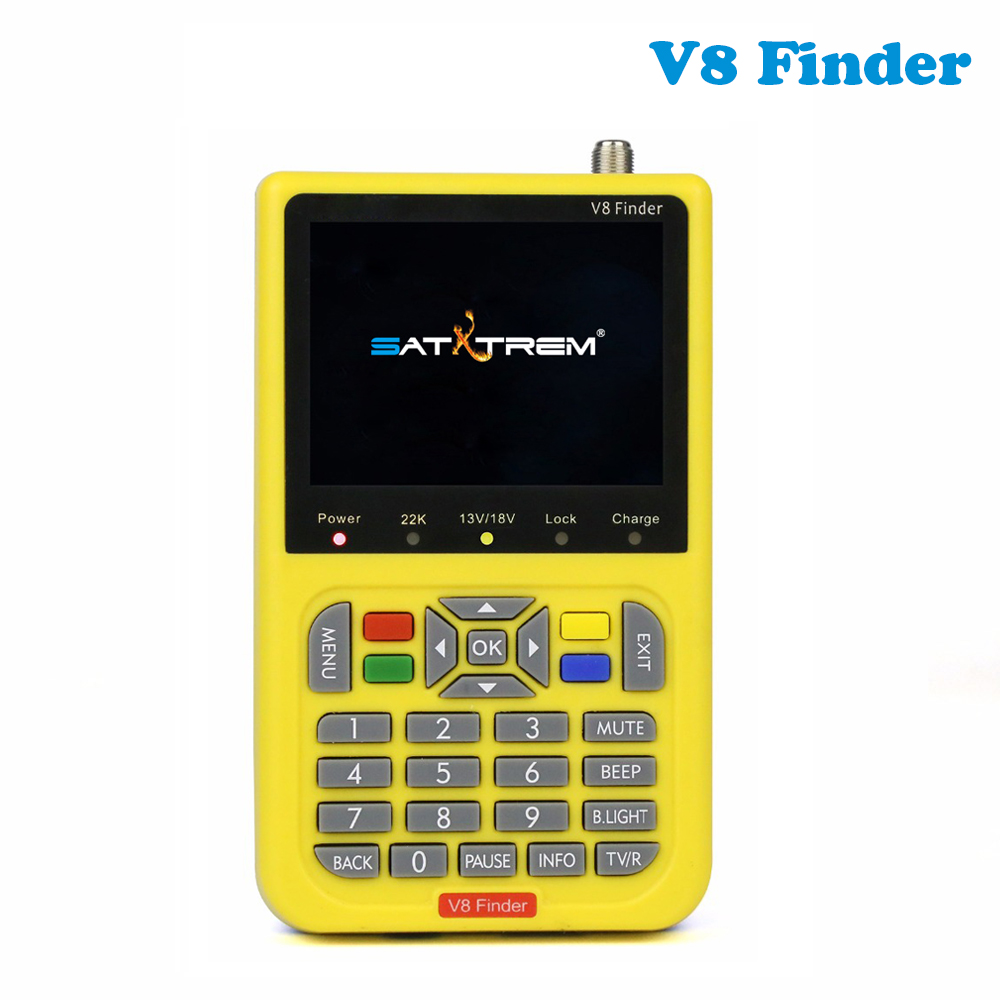 V8 Finder HD DVB-S2 High Definition Satellite Finder MPEG-4 Full 1080P satellite Finder VS satlink ws-6933 satlink ws-6916 satlink ws 6979se satellite finder meter 4 3 inch display screen dvb s s2 dvb t2 mpeg4 hd combo ws6979 with big black bag