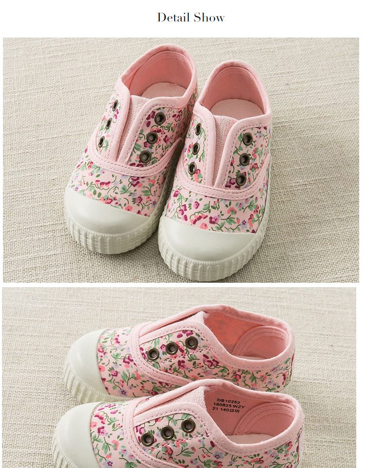 09bc8ca2c9fbe DB10252 Dave Bella spring baby girl canvas shoes new born girl casual shoes  floral