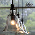 Современные подвесные светильники со стеклянным тентом  светильники для кухни  отеля  офиса  дома  светодиодный винтажный мини-светильник  ...