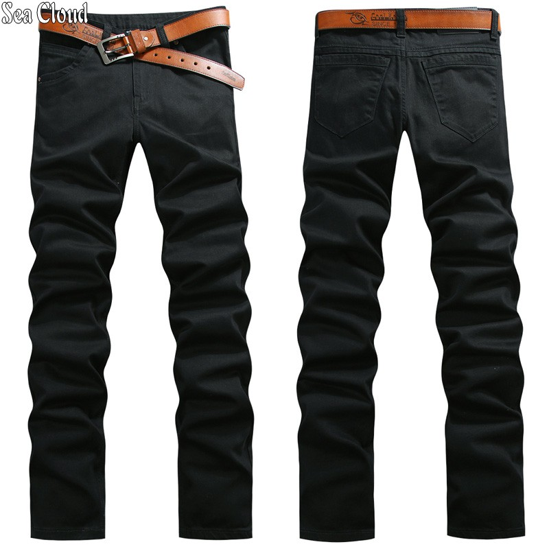 82 Free Shipping Big Size Super Long Jeans 28-44 Plus Length 125cm Men Pants Cotton Male Jeans Man Black Long Trousers