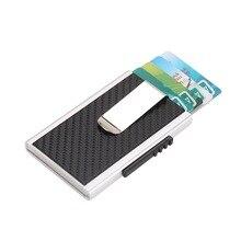 Wholesale High Quality Credit Card Holder RFID Blocking Id Holders PU Leather Metal Aluminium Case