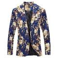 2016 New arrival! Moda de nova dos homens do projeto blazer, Floral terno personalidade Blazer ocasional, Slim Fit Jacket para o sexo masculino, Tops brasão