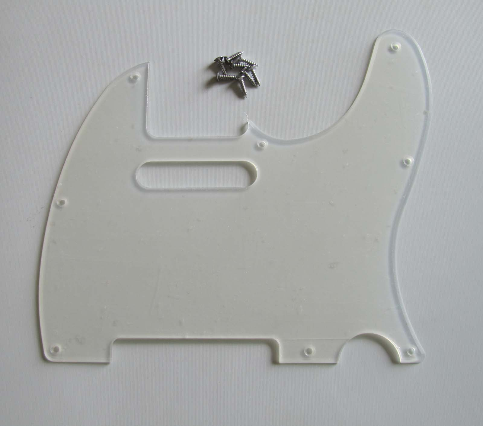 KAISH Transparent TL Single Coil Guitar Pick Guard Clear Scratch Plate with Screws