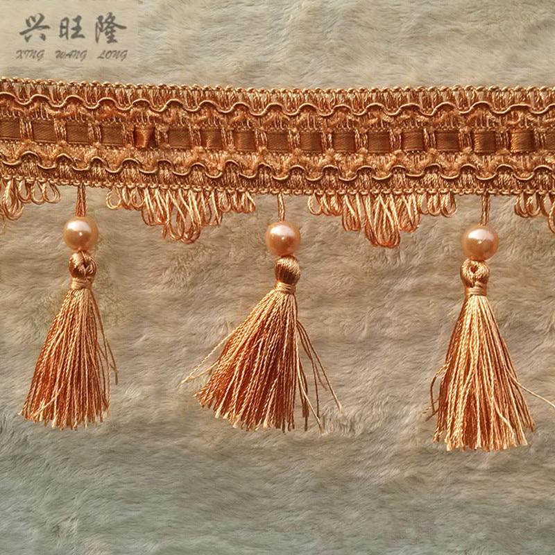 XWL 12 M / Lote 10 cm Ancho Granos de perlas Accesorios de encaje de - Artes, artesanía y costura