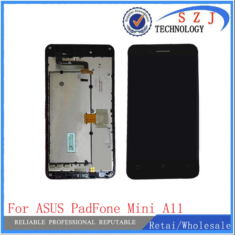New LCD display+touch Screen Panel digitizer with frame For Asus Padfone mini A11 free shipping lcd screen display touch panel digitizer with frame for htc one m9 black or silver or gold free shipping