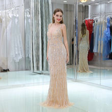 Nanwuji See Through Evening Dresses Floor Length Prom Dress