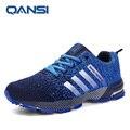 2017 Горячей продажи Qansi Тренеров Моды Super cool дизайнер прогулки обувь для мужчин Осень узелок Досуг обувь для ходьбы мужской сапоги
