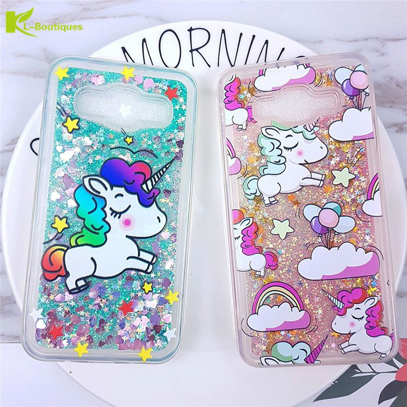 official photos 0d458 55f45 US $3.38 21% OFF|KL Boutiques Glitter Liquid Case for Samsung Galaxy J2  Prime Cute Unicorn Soft TPU Phone Cover for Samsung Grand Prime Plus  G532-in ...