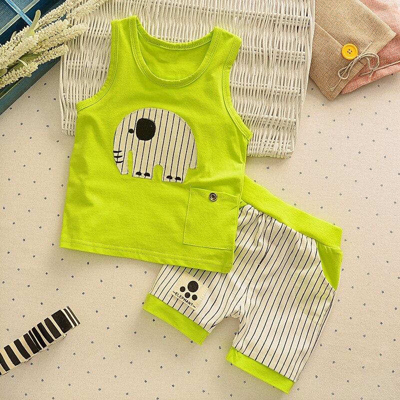 short pants kids outfits cute 1 set baby Boys clothes cotton summer Top Tank
