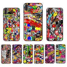 Black silicone Dazzling pictures back cover For iPhone case 6 6S 7 8 plus 5 5S bumper X XR XS max SE TPU fashion shell Coque стоимость