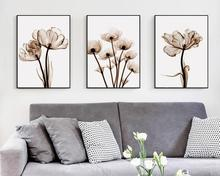 3 Pieces Abstract Transparent Tulip Flower Canvas Art Painting Print Poster Picture Wall Living Room Home Decoration Murals