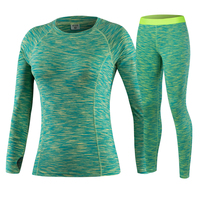 New GYM Yoga Set Women Wick Workout Sport Gym Clothes Running Pants Compression Tights Sport T