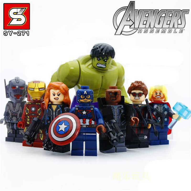 المنتقمون أرقام الرجل الحديدي الرجل العنكبوت الهيكل نماذج ثانوس ثور ألعاب شخصيات الحركة Legoings المنتقمون ENDGAME دمية أطفال هدية