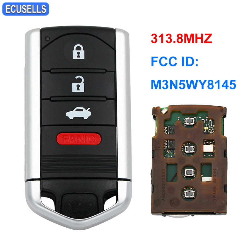 Acura Zdx 2013: New 4 Button Smart Remote Car Key Fob 313.8Mhz For Acura