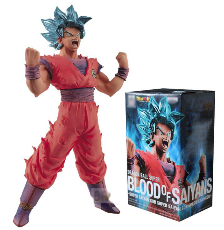Anime Dragon Ball Z Super Blood of Saiyans God Son Gokou Figure Model Collection Toys 18cm