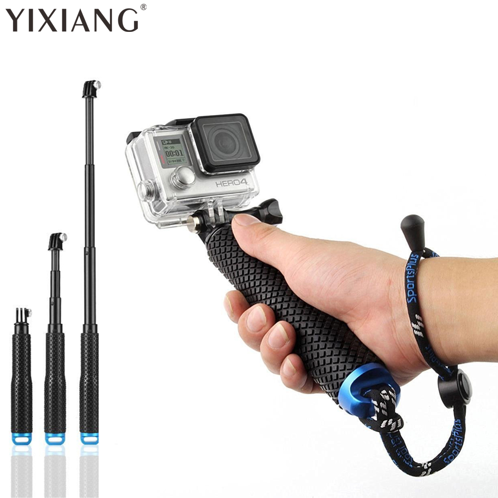"""YIXINAG 4 spalvų atsparus vandeniui monopodinis stovas """"Selfie Stick Pole"""" rankinis, skirtas """"Gopro Hero"""" 4 3+ 3 2 1 fotoaparatui ir laikmačio laikikliui"""