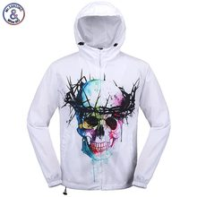 2017 Mr.1991INC Europe and America fashion men's windbreaker 3d jacket coat thin print colorful skull tracksuits tops lovely jac