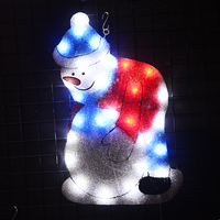 2D EVA snowman motif light 20.47 in. Tall christmas tree light decoration led party lights holiday home decoration