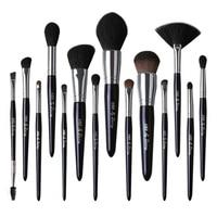 Galaxy Pearlescent 14Pcs Natural Goat Hair Makeup Brushes Set with Case Pro Make up Tools Eyeshadow Blending Brush Kit