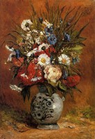 Daisies and Peonies in a Blue Vase by Paul Gauguin oil Painting Canvas High quality hand painted Flower Art Reproduction