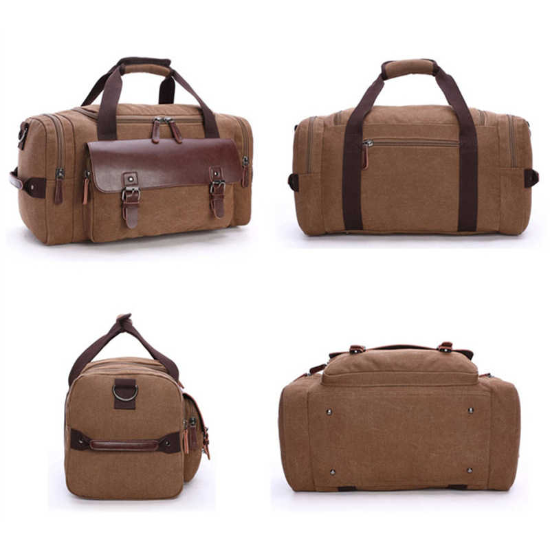 36f7f4c360 ... High Quality Canvas Luggage Bag Large Capacity Travel Bag Men Shoulder  Handbag Crossbody Travel Duffel Bags ...