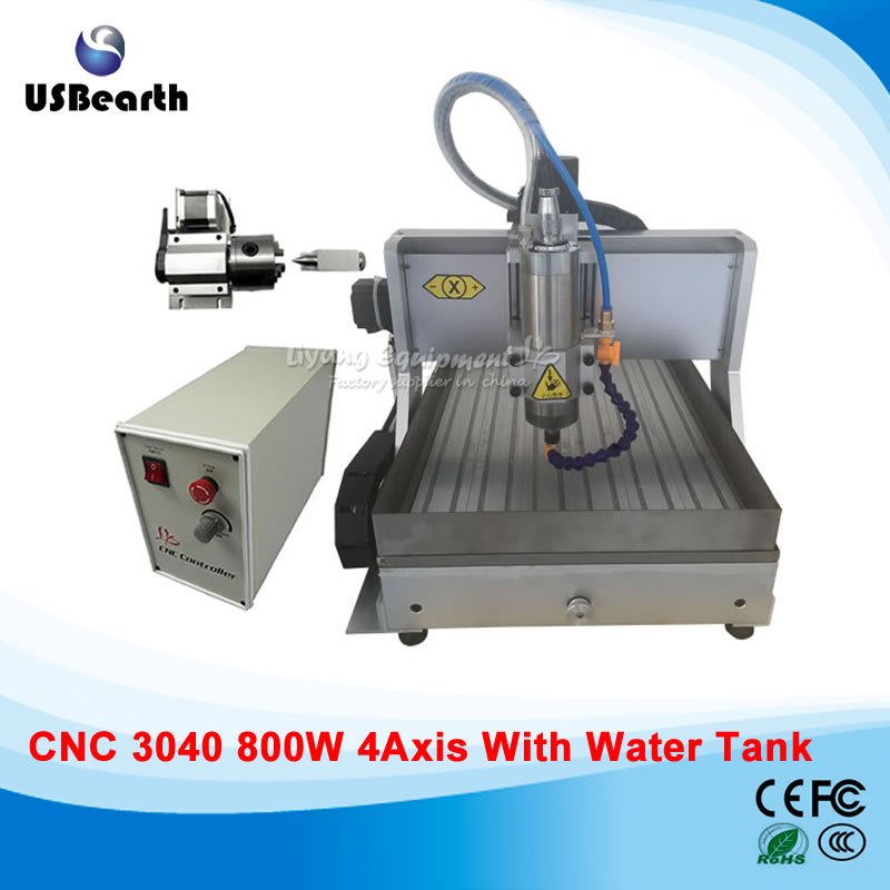 USB metal milling 3040Z cnc machine , 800w 3d engraving machine with water sink 3 axis cnc machine 3040 cnc 800w usb port metal engraving machine with water sink