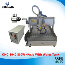 USB metal milling 3040Z cnc machine , 800w 3d engraving machine with water sink