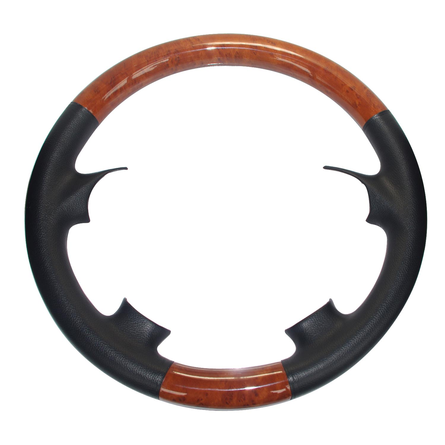Black Leather Light Brown Wood Steering Wheel Cover For Mercedes Benz 1998-2005 W163 ML M 270 ML320 ML350 ML430 ML500 ML55 AMG