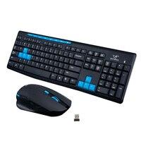 2.4G Wireless Gaming Keyboard Mouse Combo Set Gamer Keyboard Mouse Pad Kit for Desktops Laptops PC EM88