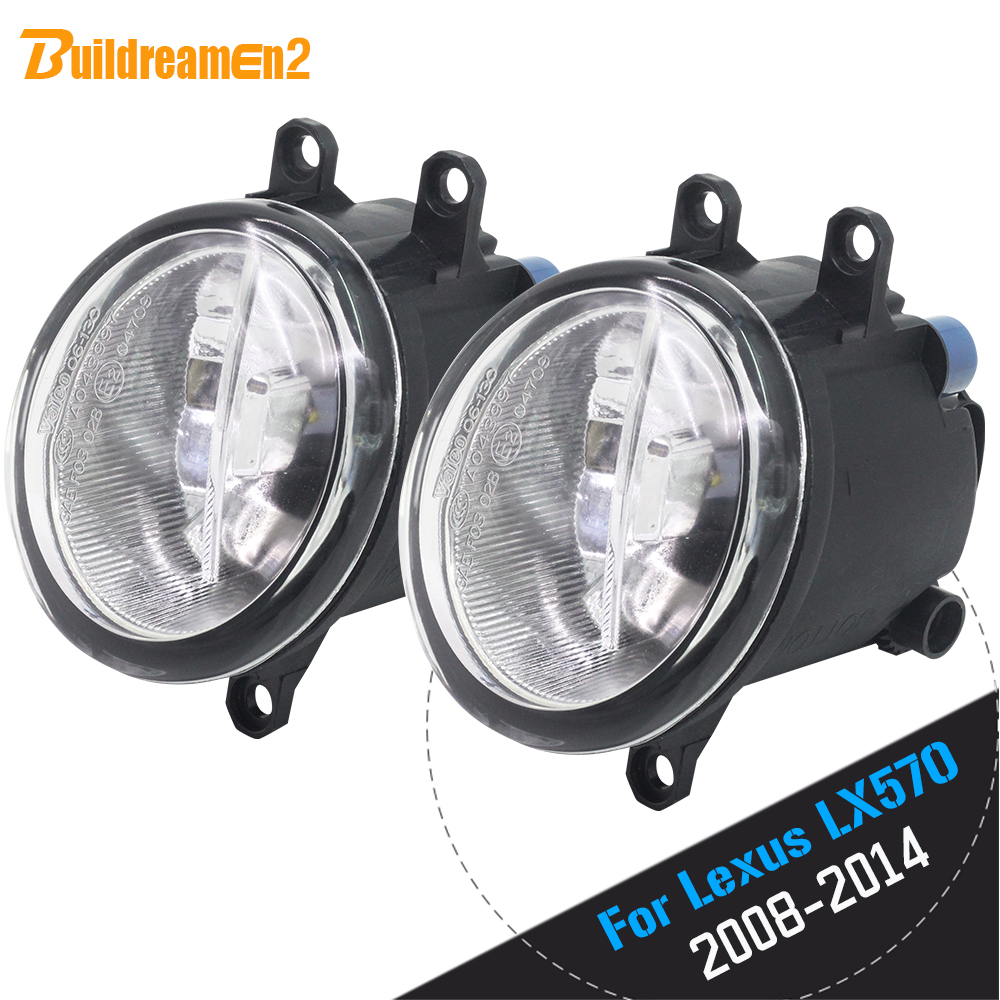 Buildreamen2 For <font><b>Lexus</b></font> <font><b>LX570</b></font> 2008 2009 2010 2011 Car Styling H11 LED Lamp <font><b>Fog</b></font> <font><b>Light</b></font> DRL Daytime Running Lamp 4000LM 12V image