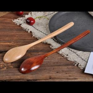 Высококачественная натуральная деревянная ложка, вилка, Бамбуковая кухонная утварь, обеденный суп, чай, мед, кофе, посуда, инструменты, суп-чайная ложка, посуда