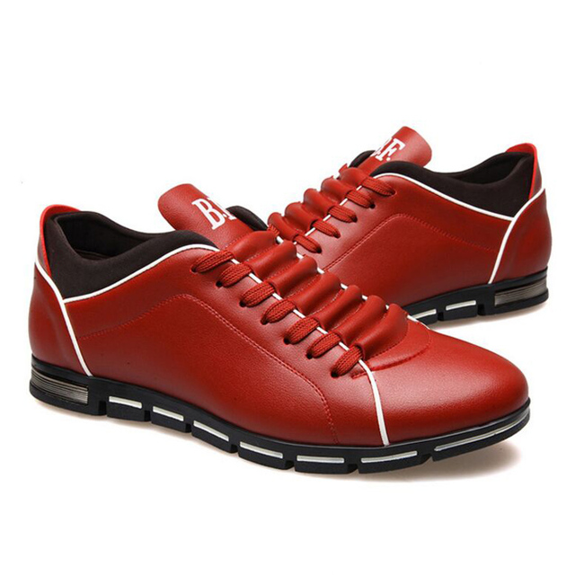 In The Autumn Of  New England Men's Trend Of Men's Shoes Casual Shoes Leather Shoes Breathable Four Male