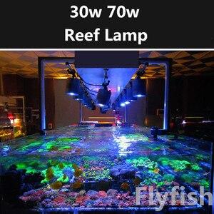Риф Аквариум морская вода коралловый светодиодный светильник 30 Вт 70 Вт морская вода восход солнца закат полный спектр светодиодный светиль...