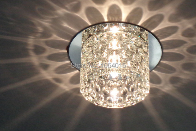 Crystal LED Downlight Fixture Lighting Stairway Chandelier Balcony Light  Free Shipping