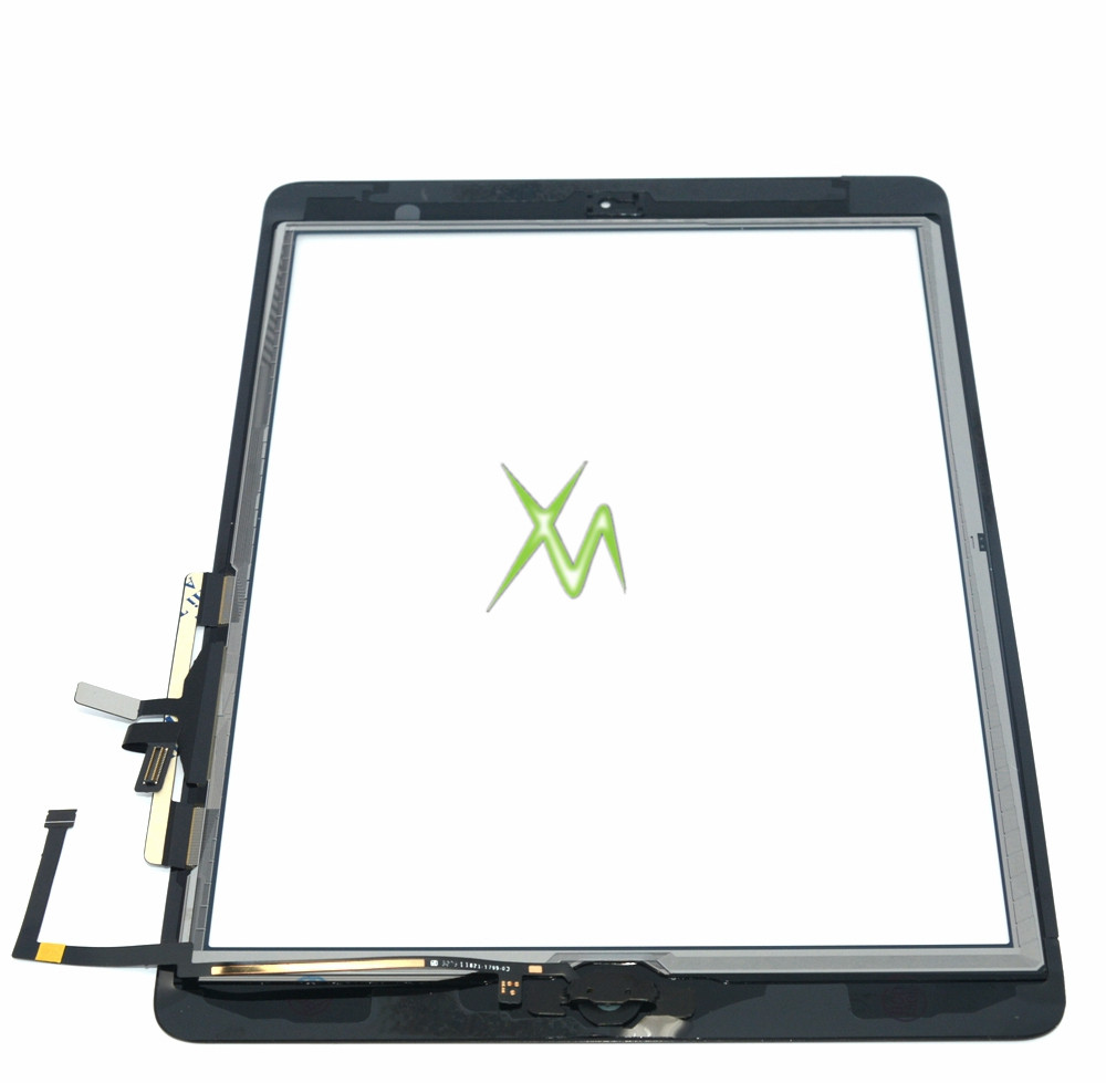 BESTEASYBUY For iPad 5 Air touch screen digitizer with home button + flex cable + camera holder assembly free shipping