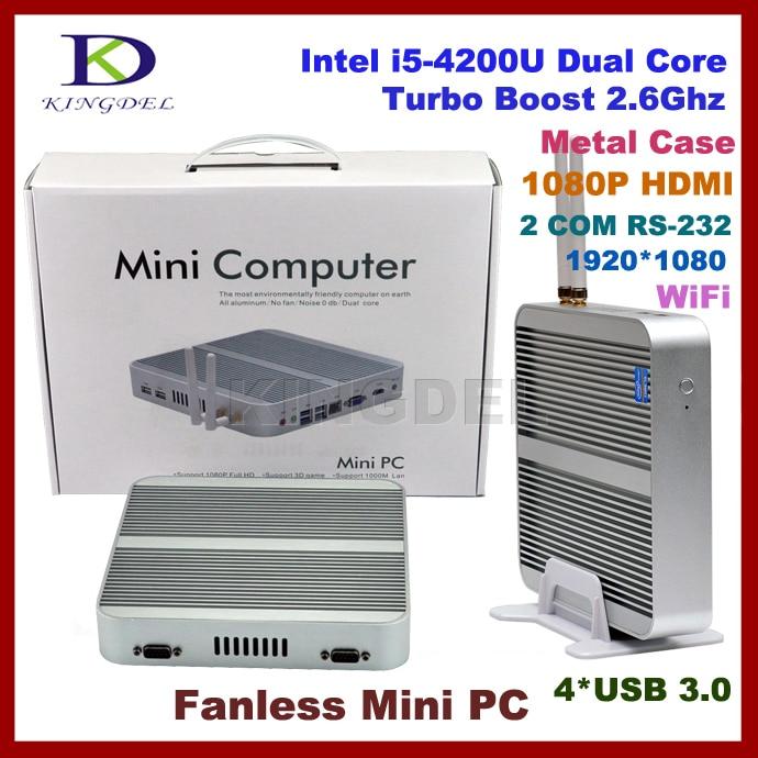 Envío de la Nueva Mini Computadora Sin Ventilador, HTPC, Intel i5-4200U Turbo Bo