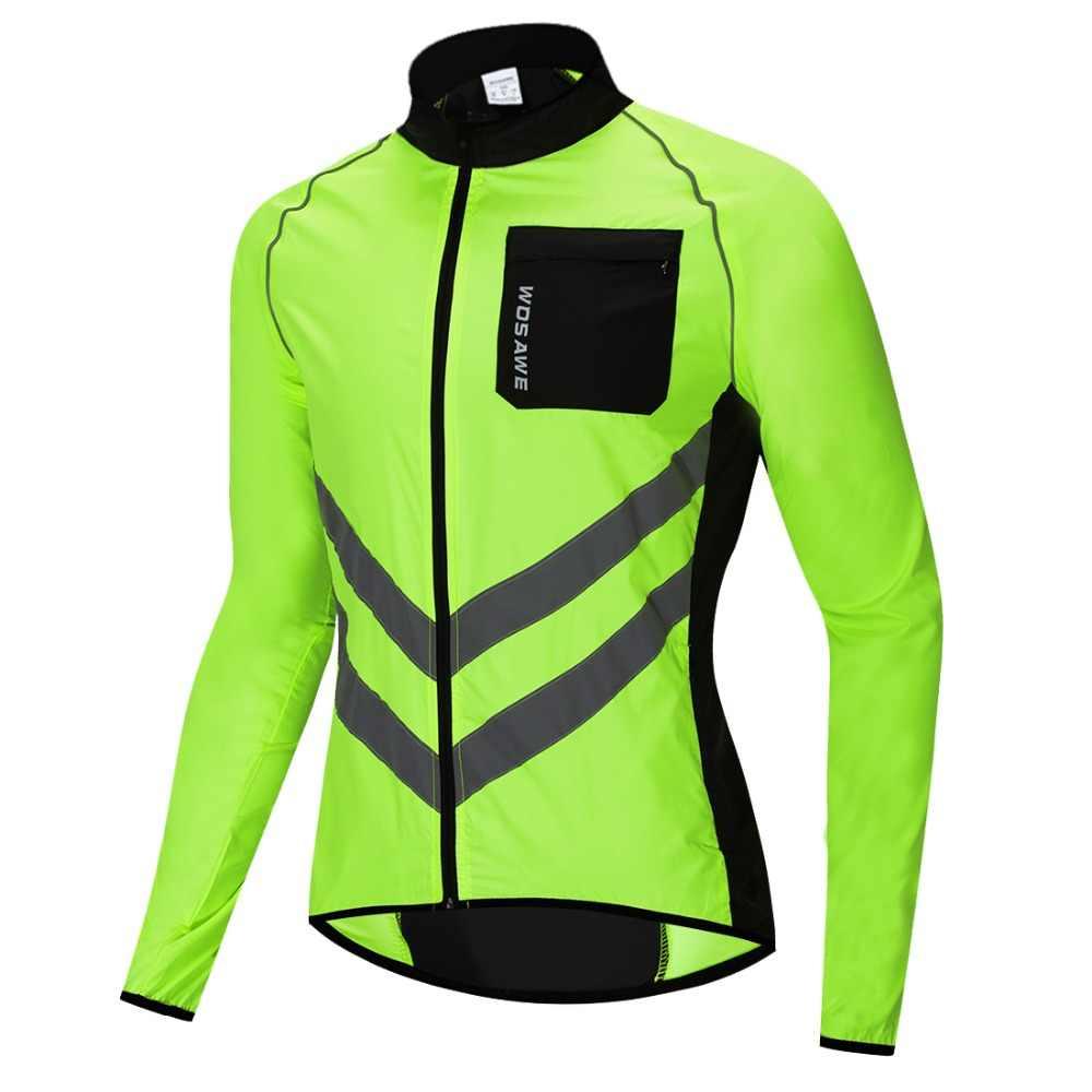 WOSAWE Велоспорт ветровка Высокая видимость Многофункциональный Джерси Дорога MTB велосипед ветрозащитный быстросохнущее дождевик ветровка