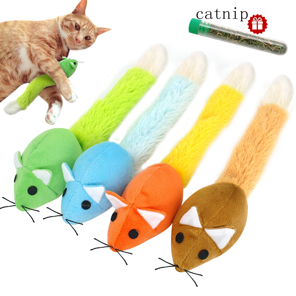Catnip Cat Toy for Cats Plush Soft Pet Toys Interactive Mice Mouse Toys fro Cat Funny Kittens Training Toys Play Games TY0019 5